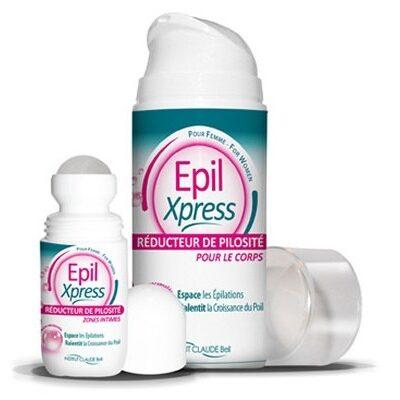 EPILXPRESS komplekt: Rulldeodorant + Losjoon, vähendab keha karvakasvu. Spetsiaalselt naistele.