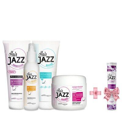 HAIR JAZZ šampoon + lotion + palsam + mask + KINGITUS (juuksekasvu aktivaator)!